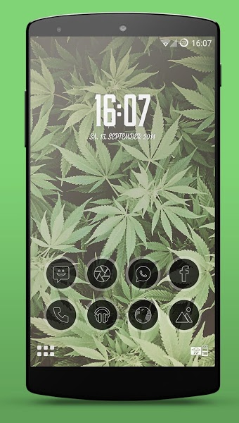 Kush Weed Smart Launcher Theme v4 .apk File