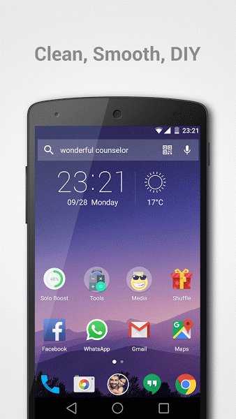 Solo Launcher Clean Smooth Diy v2.4.9.8 .apk File