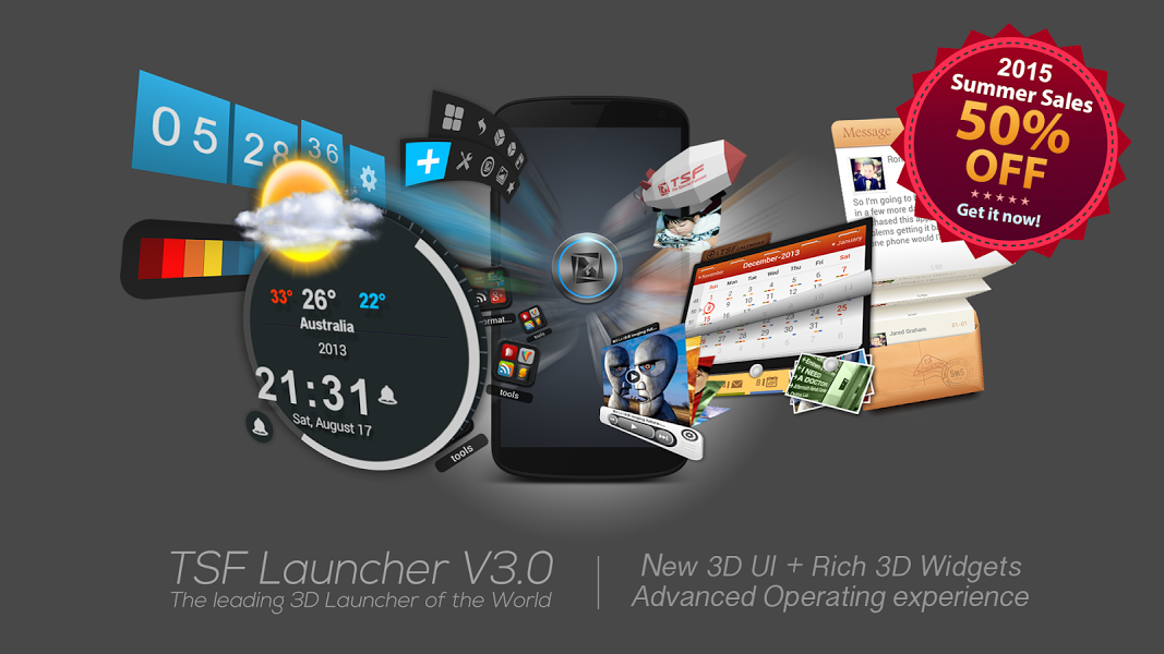 TSF Launcher 3D Shell v3.8.5 .apk File