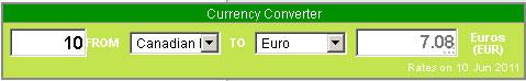 currency converter widget in WordPress