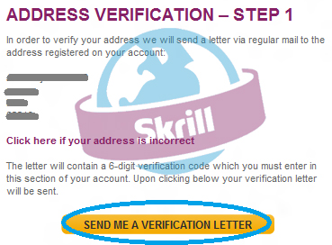 How to Verify Postal Address in Skrill to Add (Bank of America) Payoneer