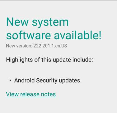 Security Updates Android Moto X
