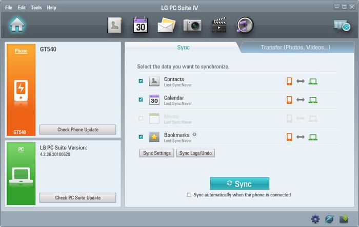 LG PC Suite 32-Bit Setup