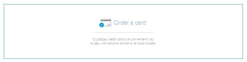 Cryptopay Bitcoin Debit Card Order