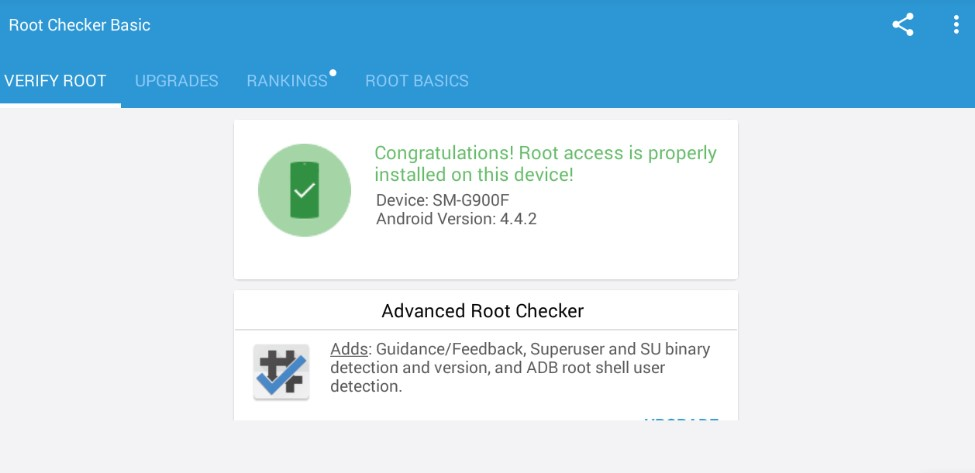 Root access is properly installed